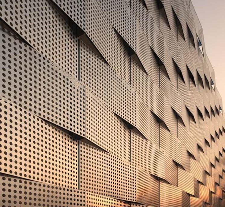 Fashion design perforated metal sheet, perforated aluminum exterior wall panel