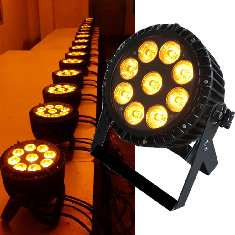 China supplier 9PCS 18W RGBWA+UV 6in1 outdoor waterproof IP65 dmx led par light for gardern square