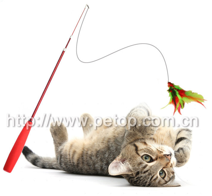 New Wholesale Lovely Christmas feather Cat Teaser toy