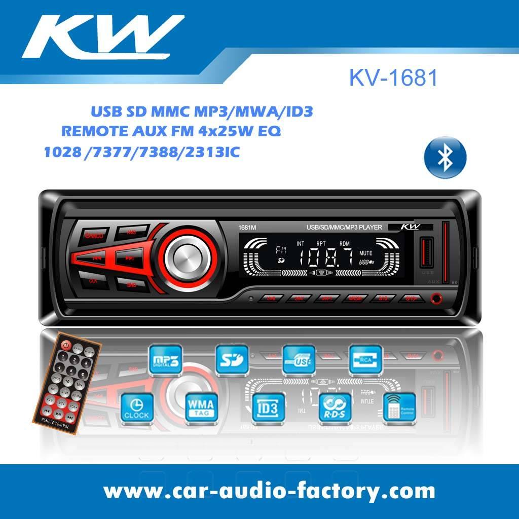 KV1681 LED Screen Car MP3 Player