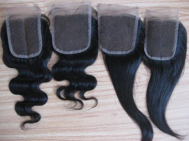"""Lace closures, Indian human hair 3.5""""X4"""", 4""""x4"""", 5""""X5"""" and so on"""