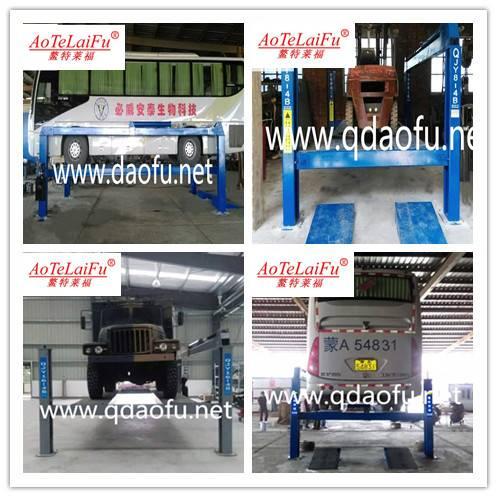 Hydraulic 4 post car lift 8t