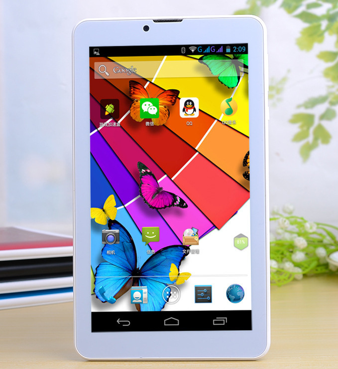 7 inch android Build-in 3G Tablet PC dual SIM card slot 8 Rom tablet pc