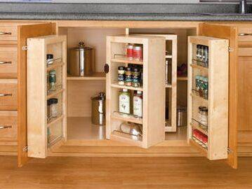 Customized Wood Kitchen Storage Cabinets