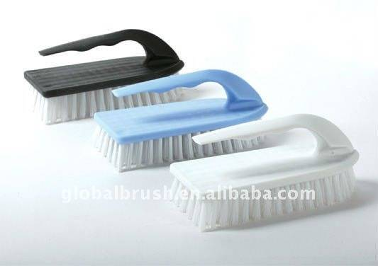 HQ8119 best-seller iron handle PP scrub brush/shoe brush/cloth brush/nail brush