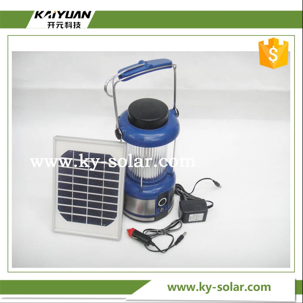 2016 hottest portable solar camping light with car cigarette Lighter