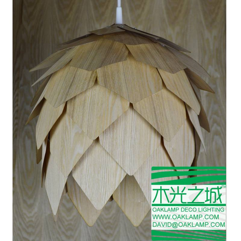 latest design wood lamp made from real plywood and veneer,