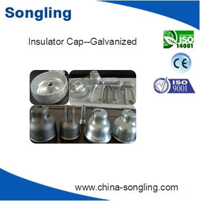 Zinc coated insulator hardware