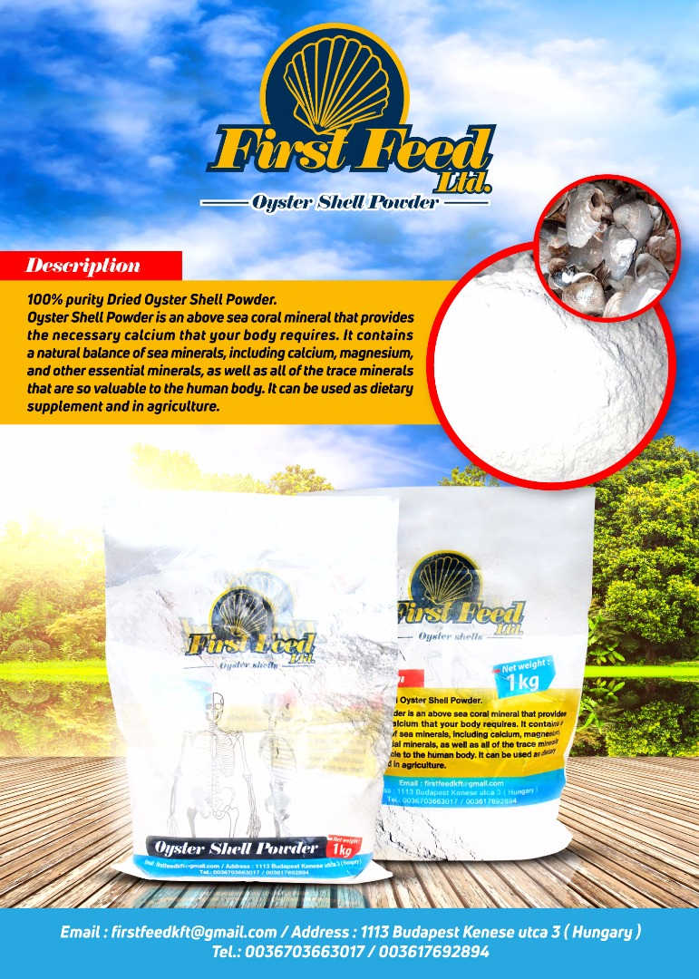 Oyster Shells Extract Powder Calcium Carbonate CaCO3
