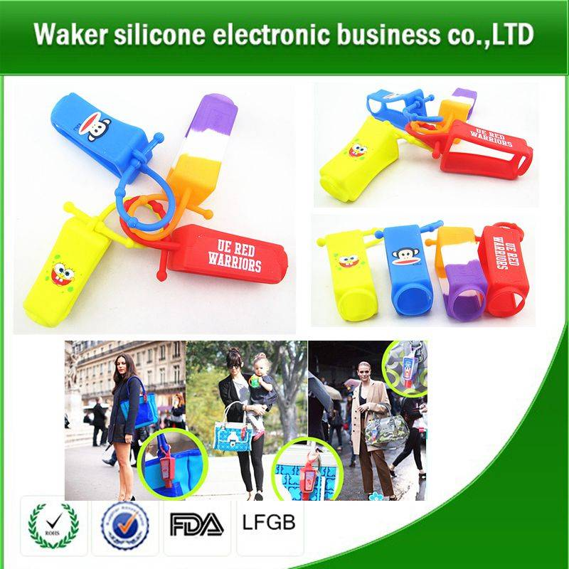 silicone portable outdoor sanitizer holder