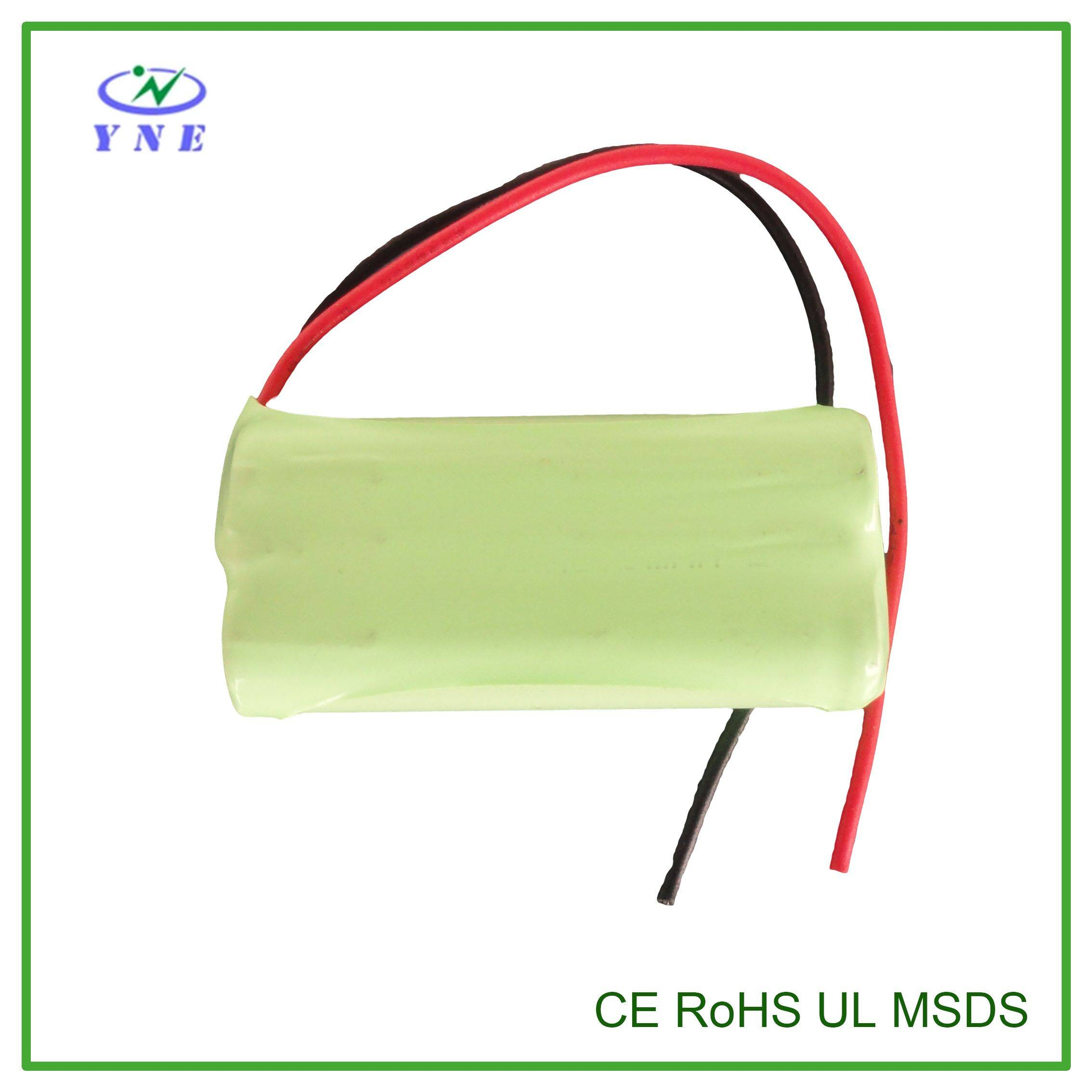 AA 2.4V 1500mah Ni-MH Rechargeable Battery