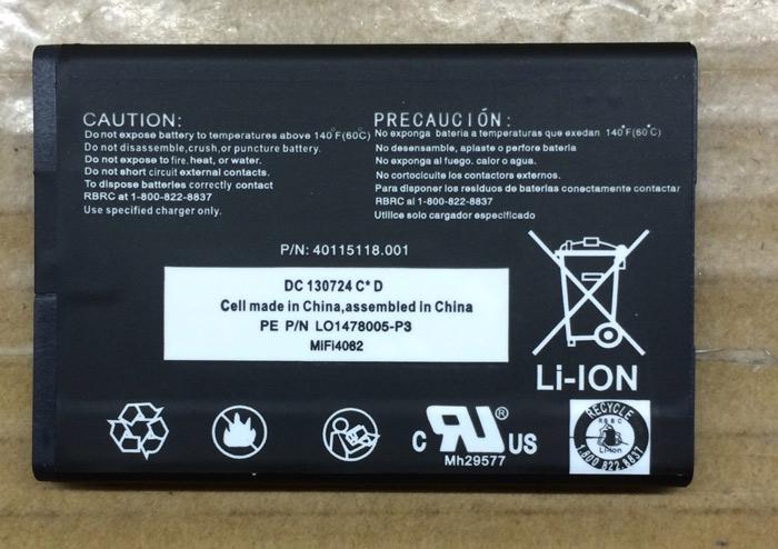 New Replacement Battery for Novatel MiFi 4510 & Mifi 4082 Wi-Fi Mobile Hotspot Modem Router Battery