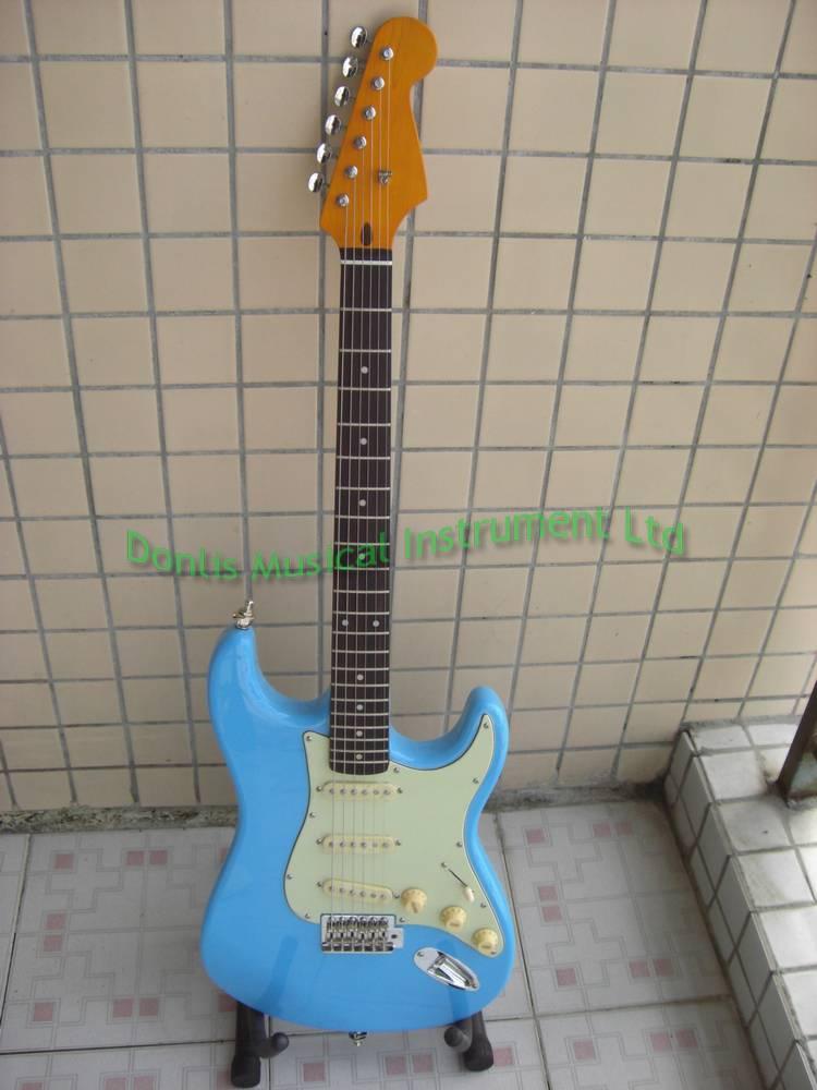 Vintage strat guitar alder guitar body one piece maple neck