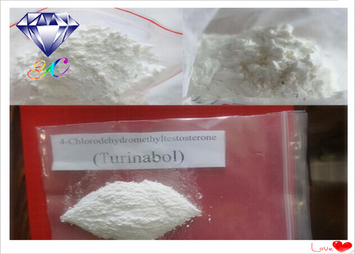 Turinabol CAS 855-19-6 Androgenic Testosterone Anabolic Steroids 4- Chlorotestosterone Acetate
