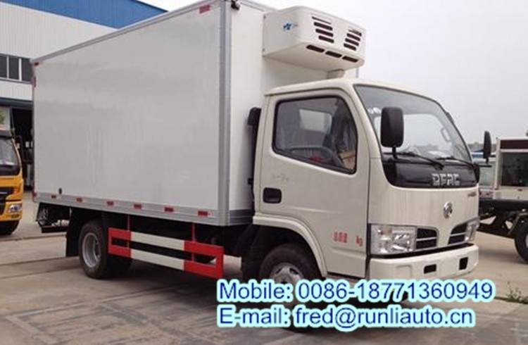Donfeng 4*2 1.5ton 4.1 meters food and vegetables refrigerator freezer truck
