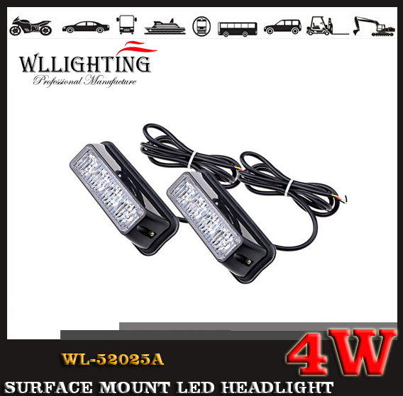 4w 24v 12v LED Grille and Surface Mount Light