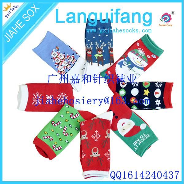 OEM Colourful Pattern Christmas Socks