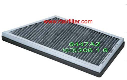 Car Cabin Filter 6447AZ for Peugeot206 1.6 Citroen C2