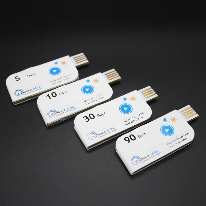 Cydiance Mini single use elelctronic temperature data logger