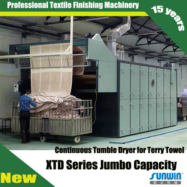 Continuous Tumble Dryer for towel