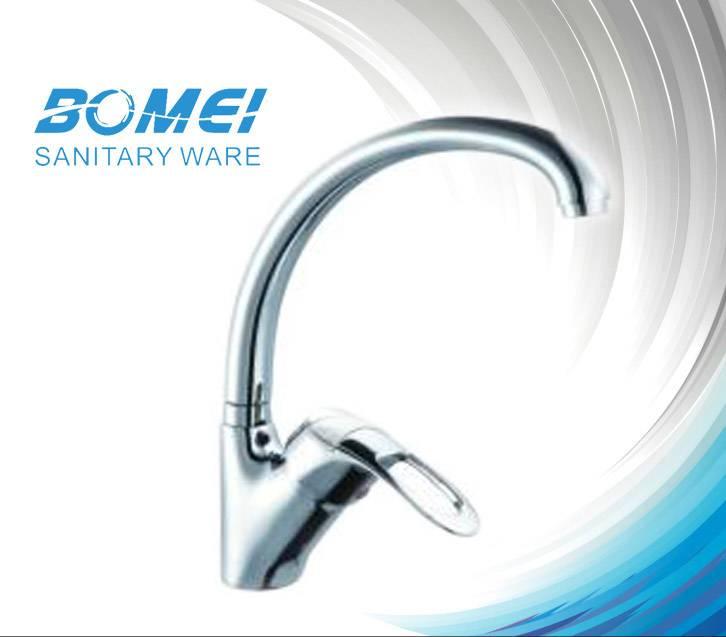 Brass Body Ceramic Cartridge Single Lever Sink Kitchen Faucet (BM90505)