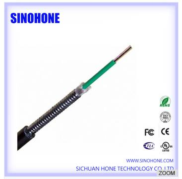 Indoor/Outdoor OM4 Loose Tube Corrugated Steel Tape Armore CST Optic Cable