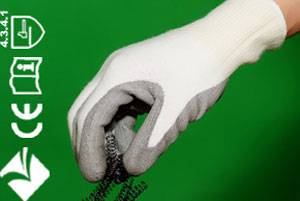 Spectra knitting gloves with Polyurethane coated on palm