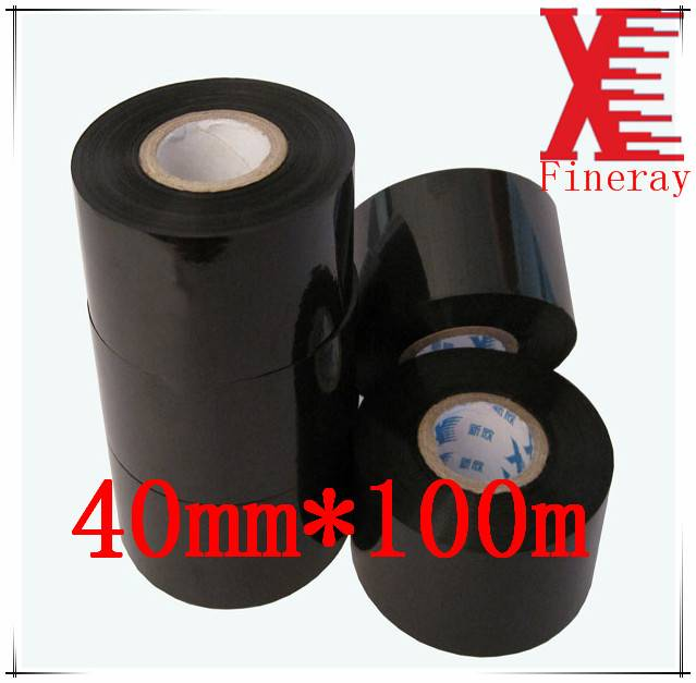 Fineray brand FC3 type 40mm*100m Black expiry date printing foil for Date Coding On HP-241 date codi