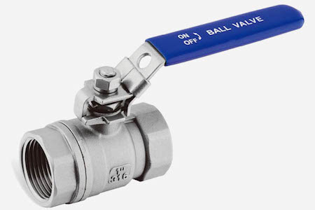 STAINLESS STEEL 2-PC BALL VALVE REDUCED BORE 1000 WOG JH202