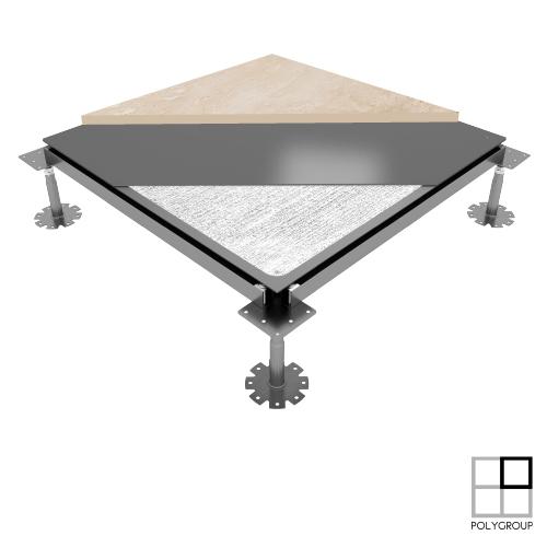 Porcelain raised access floor Gamaflor Full Steel.