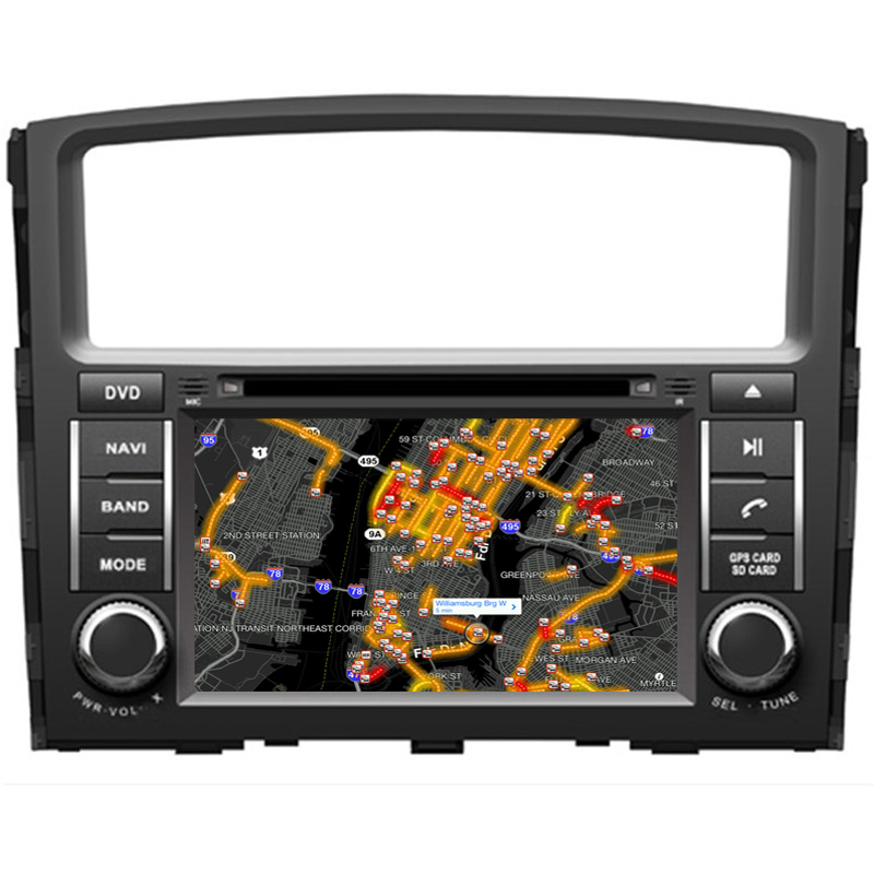 Pajero V97 V93CAR GPS DVD player with android system, 2006 2015 8 inch full touch, multifunction