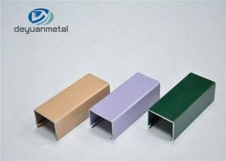 Customized Decoration Powder Coating Aluminum Profile , Precision Cutting