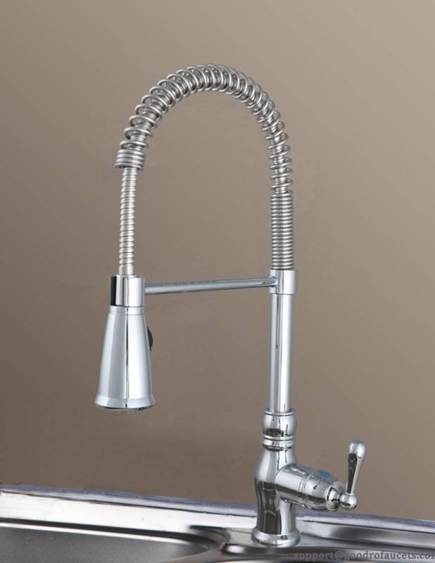 Single handle spring spout kitchen faucet