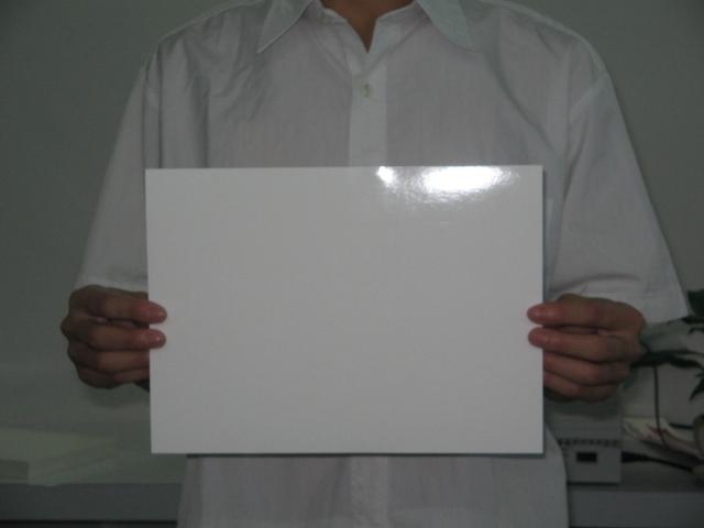 White inkjet water slide decal paper