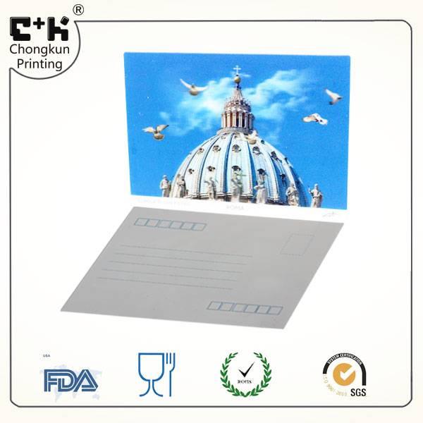 Lenticular postcard,PET lenticular postcard,3D custom lenticular postcard