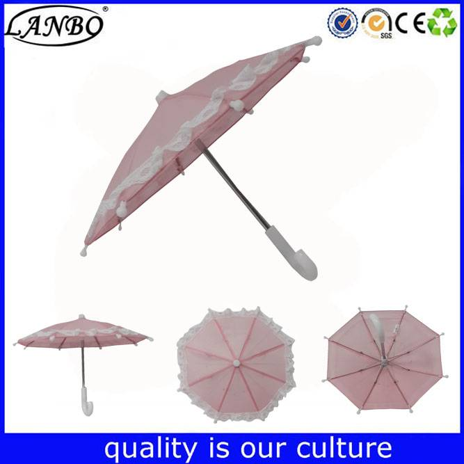 Small toy umbrella plastic umbrella with lace