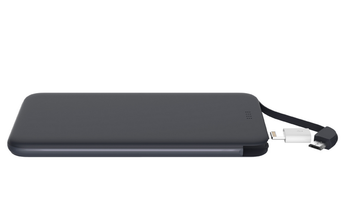 Ultra Slim Power Bank 5000 mAh with USB Cable