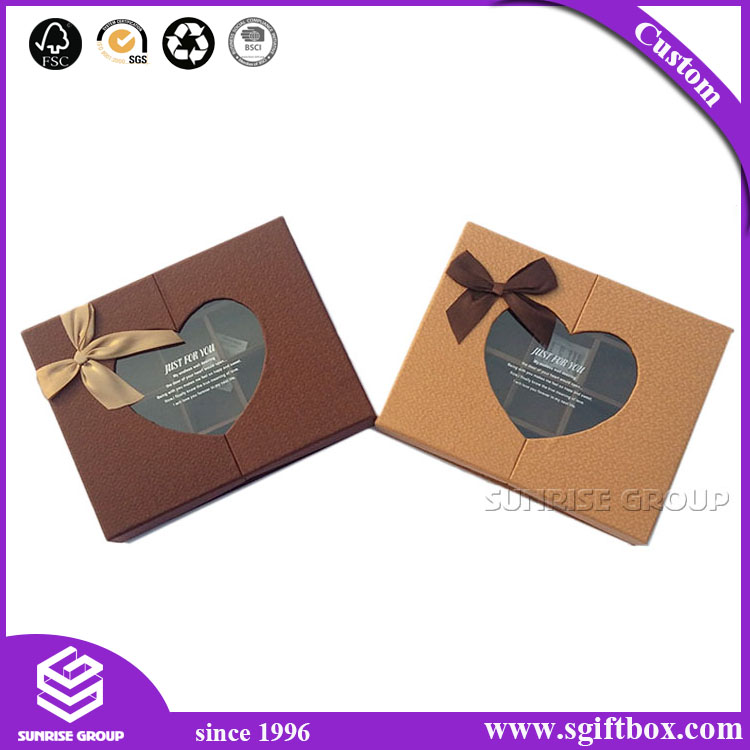 Custom Paper Packaging Chocolate Box with Plastic Window
