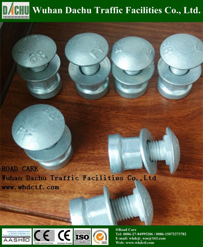 Galvanized Grade 8.8 highway Crash Barrier Bolts and Nuts