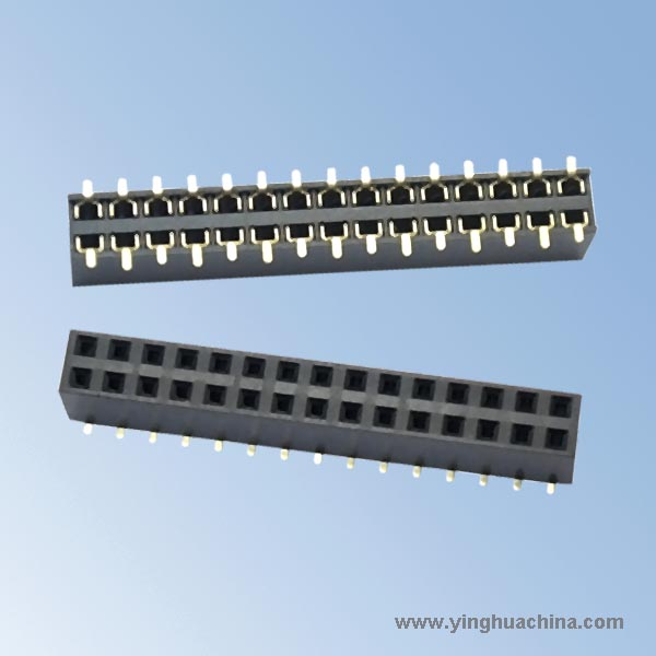 2.54 Pitch H:7.1mm Dual rows - Female Header
