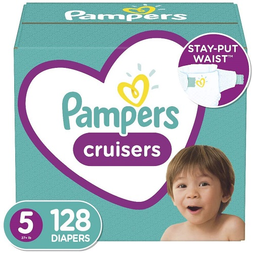 Pampers Cruisers Disposable Baby Diapers Size 5, 128 Count