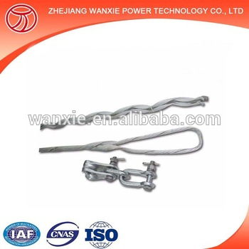 clamp preformed guy grip dead end fiber optic cable tension clamp