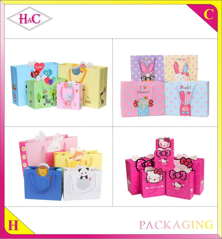 Fashional Custom Printed Luxury Gift Paper Bag With Your Own Logo