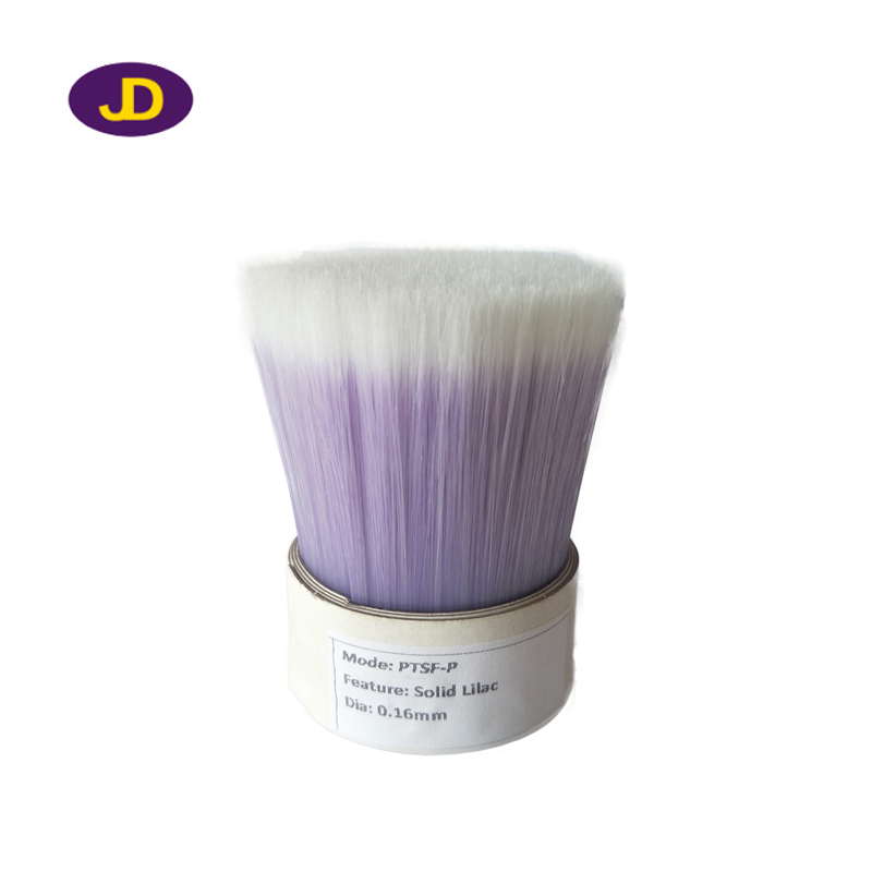 Light purple faded white synthetic filaments