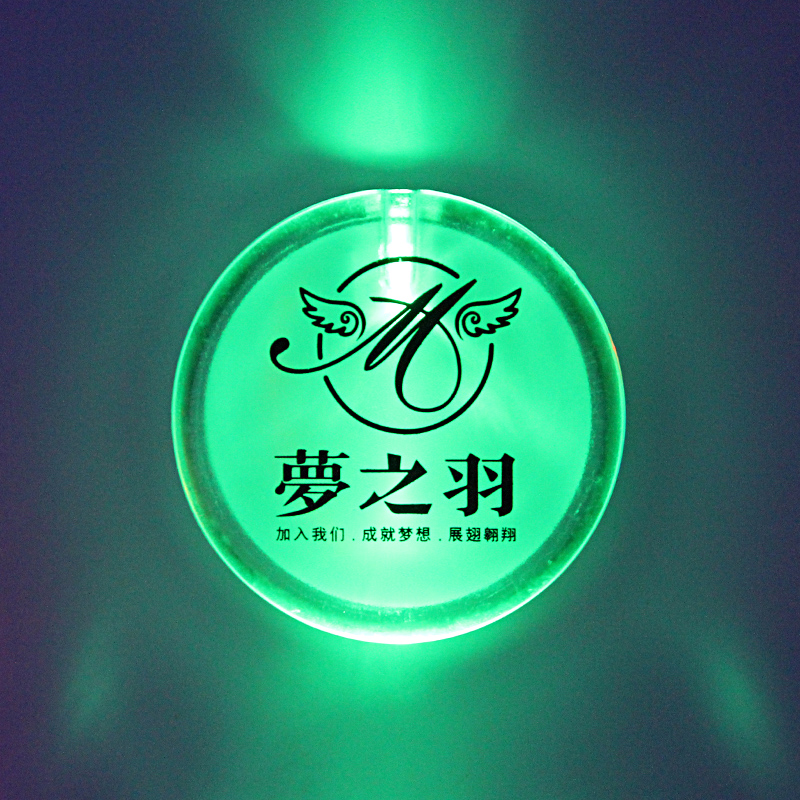 Hot Selling LED Flashing Badge for Promotion Glowing LED Light Up Badge