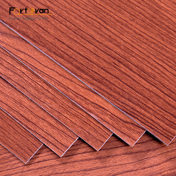 wooden colors PVC luxury vinyl flooring glue down style with good quality and best price 3mm+0.2mm