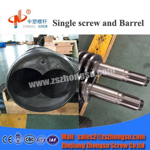 Plastic PVC Shoes Molding Twin Conical Screw Barrel