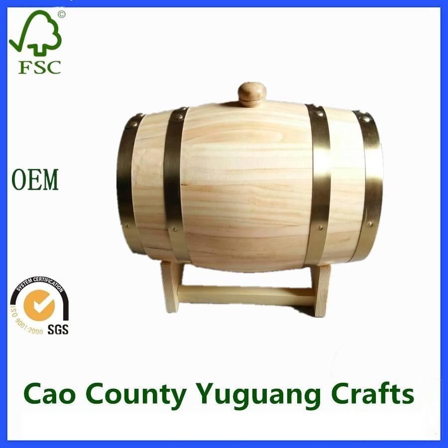 Cheap 10L Wooden Beer Wine Barrels Wooden Bucket