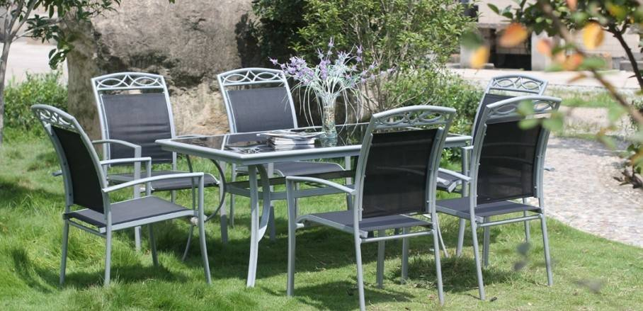 10persons patio sling outdoor table and chair dining set