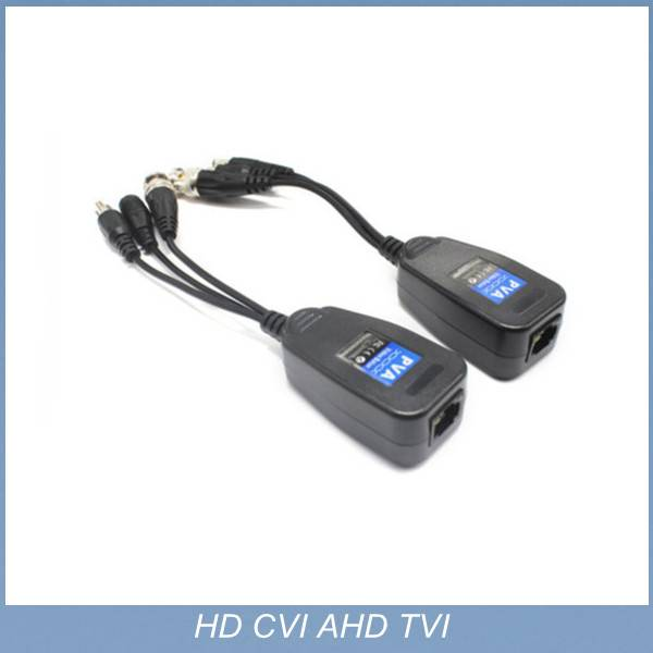 2015 1channel Coax CAT5 To Camera CCTV BNC UTP Video Balun Connector HD CVI TVI/AHD 3 in 1 power adu
